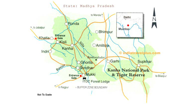 Geography Map of Kanha